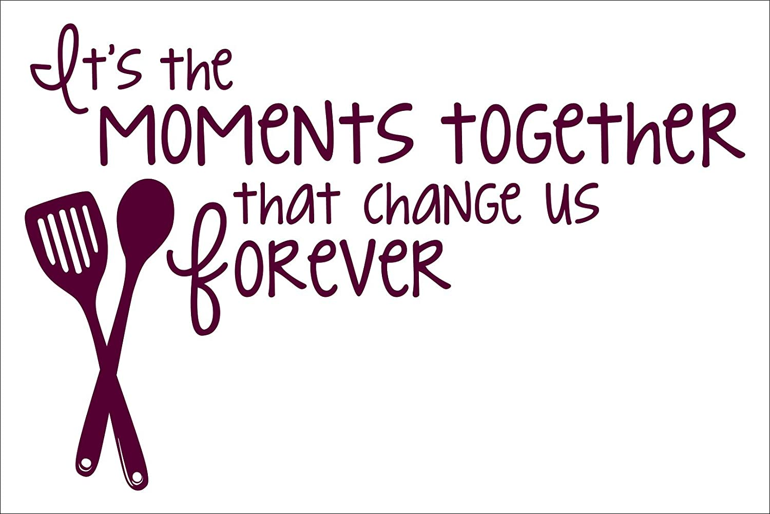 Wall Decor Plus More WDPM3677 Its The Moments Together Family Saying for The Kitchen Vinyl Wall D/écor Stickers Burgundy 23 x 15