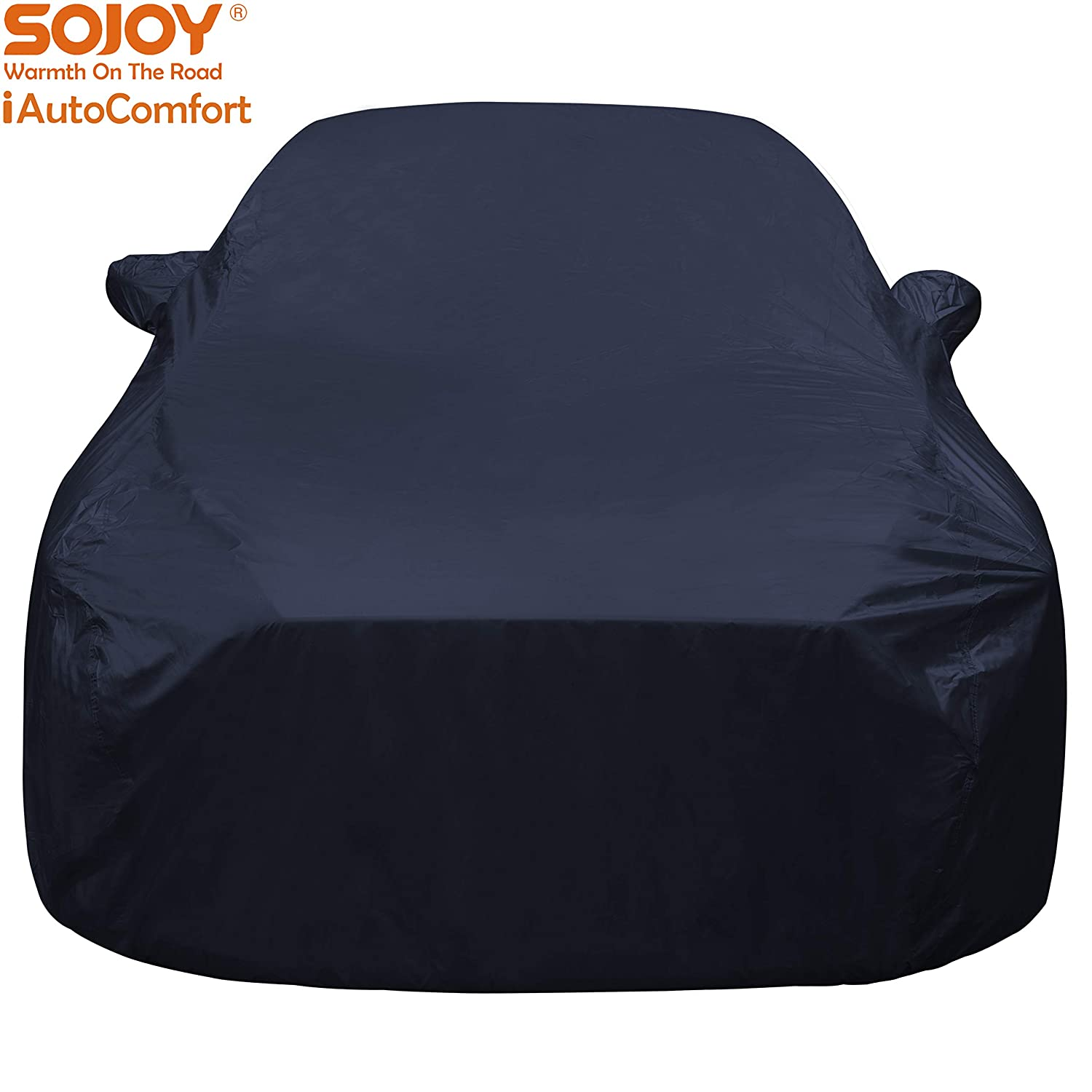 Sojoy Car Cover for Sedan Coupe XXL+ Hatchback Cover in Rain//Snow//Heat Waterproof//Windproof//Dustproof//Scratch Resistant//Outdoor UV Protection Full Car Cover SUV 215x85x60 in.