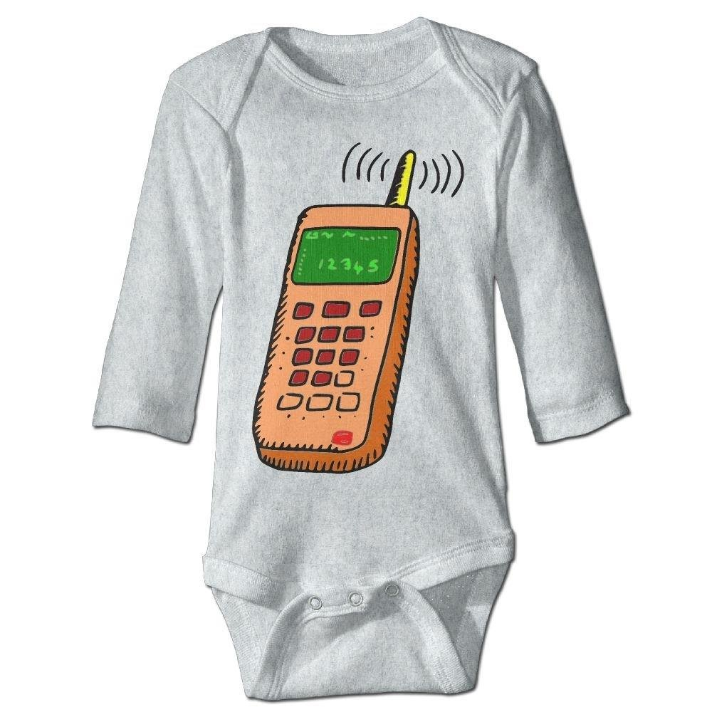 braeccesuit Babys Cellphone Cartoon Drawing Long Sleeve Romper Onesie Bodysuit Jumpsuit
