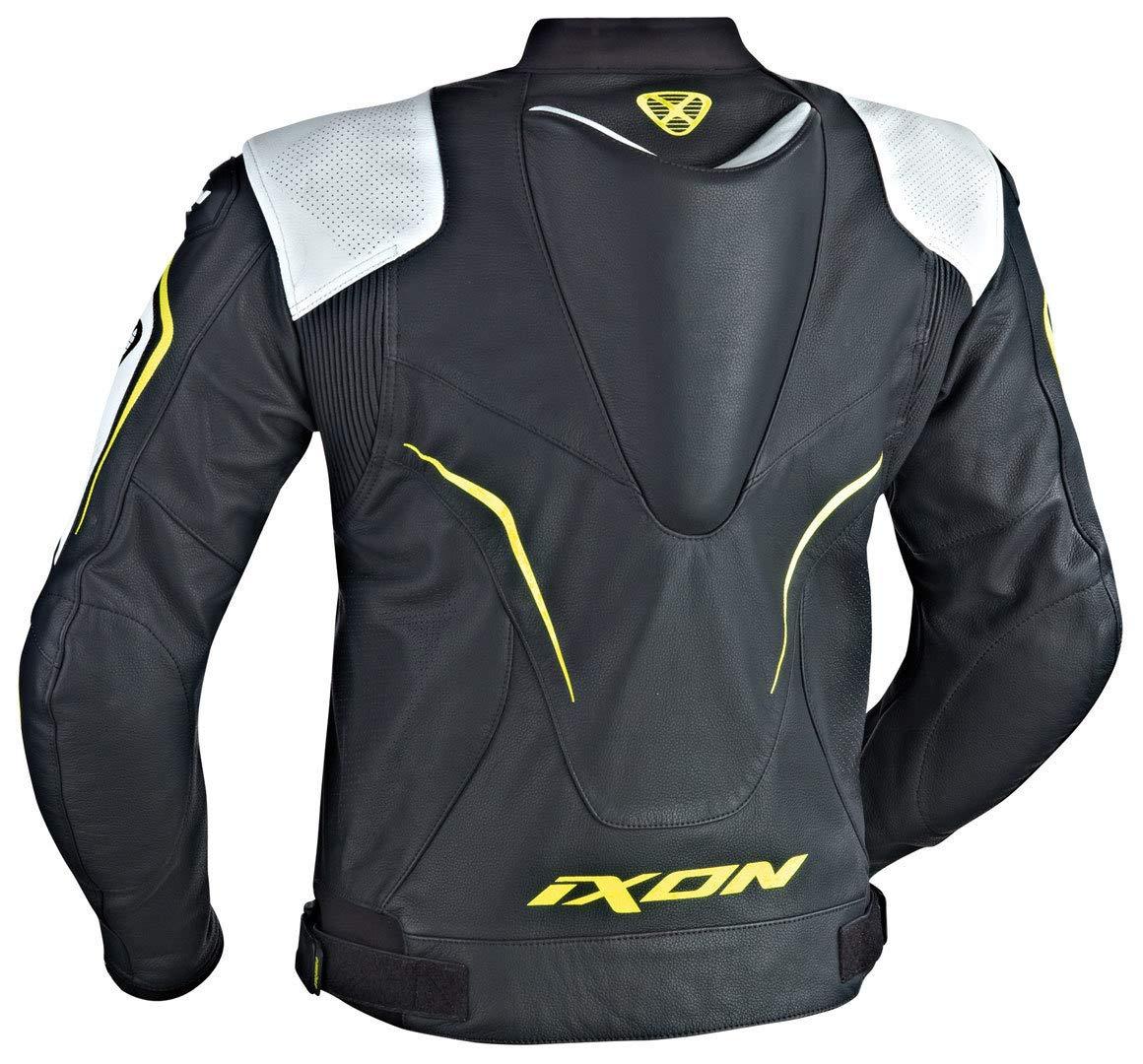 Ixon - Chaqueta Moto - Ixon Orcus, Color Negro/Blanco/Amarillo - L: Amazon.es: Coche y moto