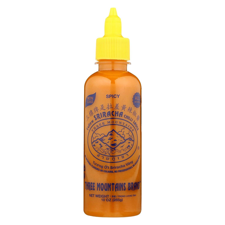 Three Mountains Brand, Sauce Sriracha Yellow, 10 Ounce
