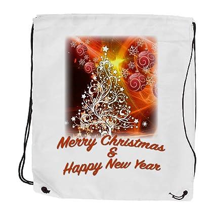 "My Custom Style® Saco Bolsa Mochila a hombro de color ""Merry Christmas"
