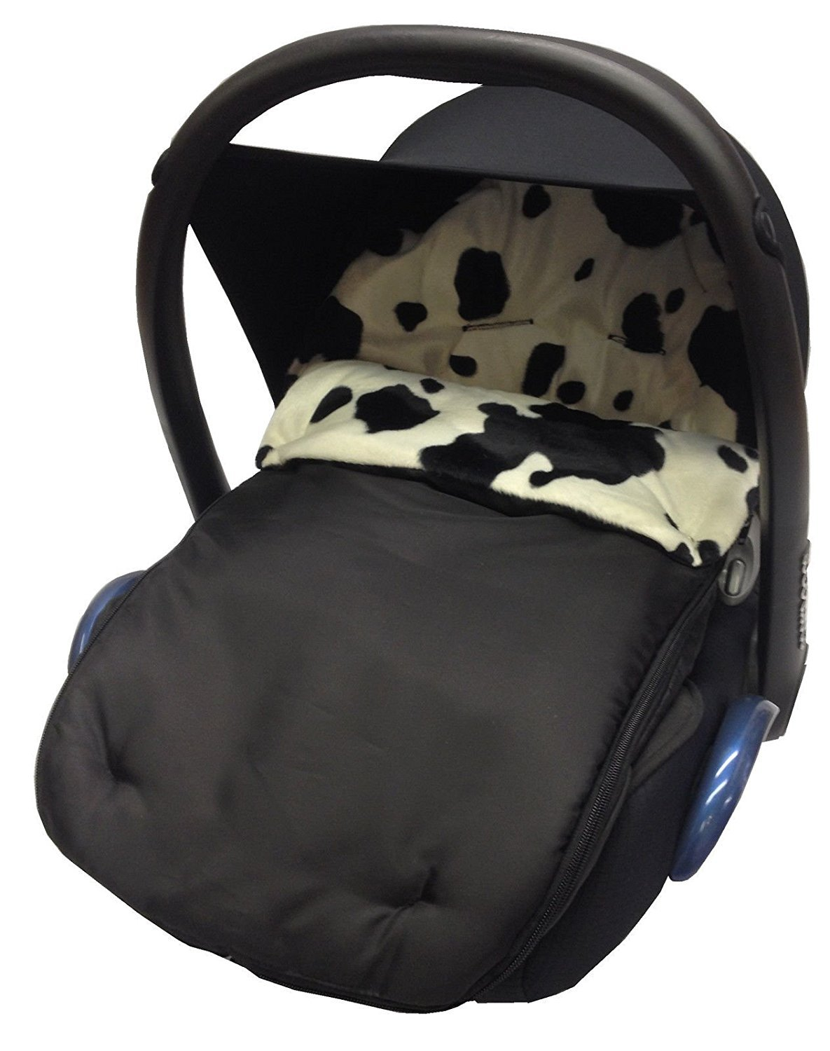 Animal Print Car Seat Footmuff/Cosy Toes Compatible with Maxi Cosi Cabrio/Pebble - Cow For-Your-Little-One