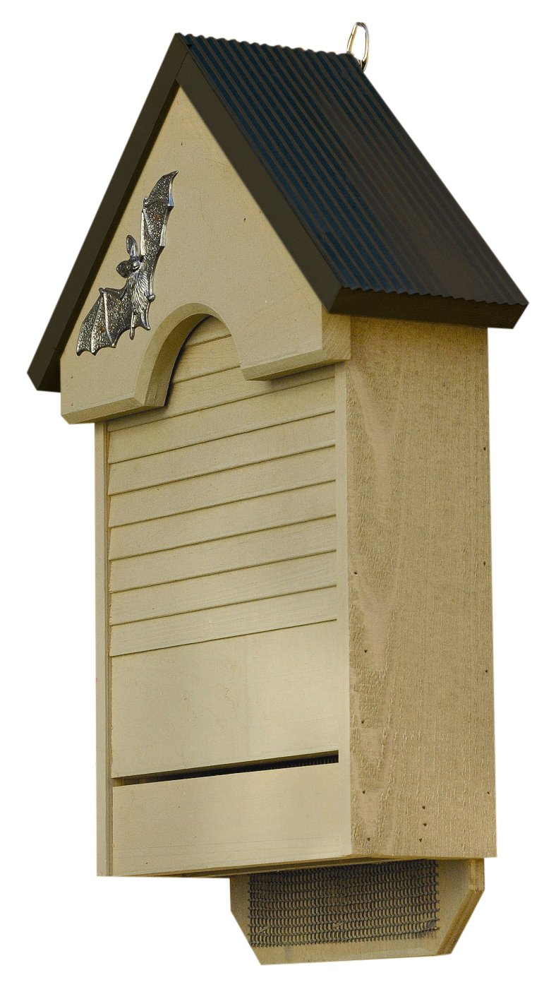 Heartwood 048A Bat Haven Bird House with Tan Black Roof
