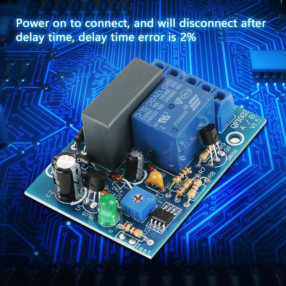 10A 30V DC 0~100Minutos M/ódulo de Rel/é de Temporizador Retardo Ajustable Interruptor de Apagado de Rel/é de Tiempo Retardo 10A 250V AC