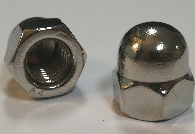 Material de lat/ón DIN 1587 M5 Tuercas de sombrerete de bronce de 5 piezas Lat/ón, M5