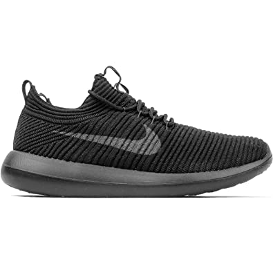 detailed look c3437 703cf Image Unavailable. Image not available for. Color  NIKE Women s Roshe Two  Flyknit V2 Dark Grey ...