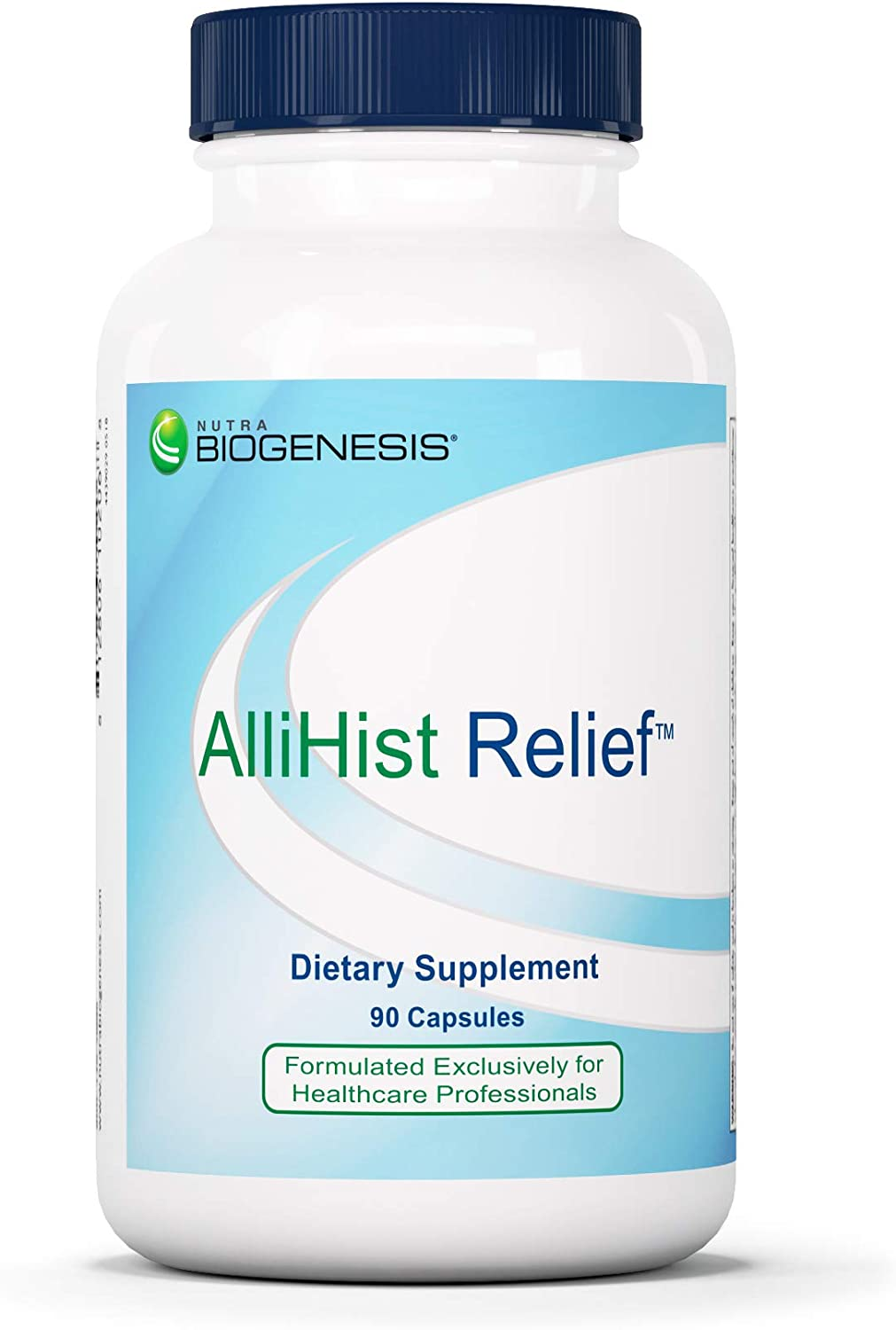 Nutra BioGenesis - AlliHist Relief - Organic Nettle, Quercetin and Feverfew for Nasal, Sinus and Lung Support - 90 Capsules
