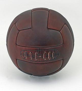 1930 de piel Vintage estilo de la barra T de piel cosida a mano balón de