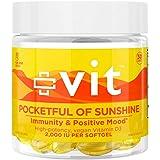 Vit - Vitamin d3 - Pocketful of Sunshine - 2000 IU, Vegan, Vitamin D for Immune Support and Mood Support, Promotes Healthy Bo