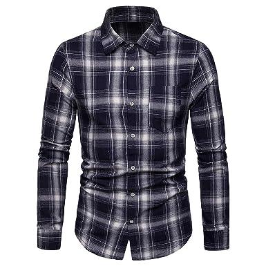 DEELIN Camiseta para Hombre Polo 2019 Hombres Sueltos Moda Casual ...