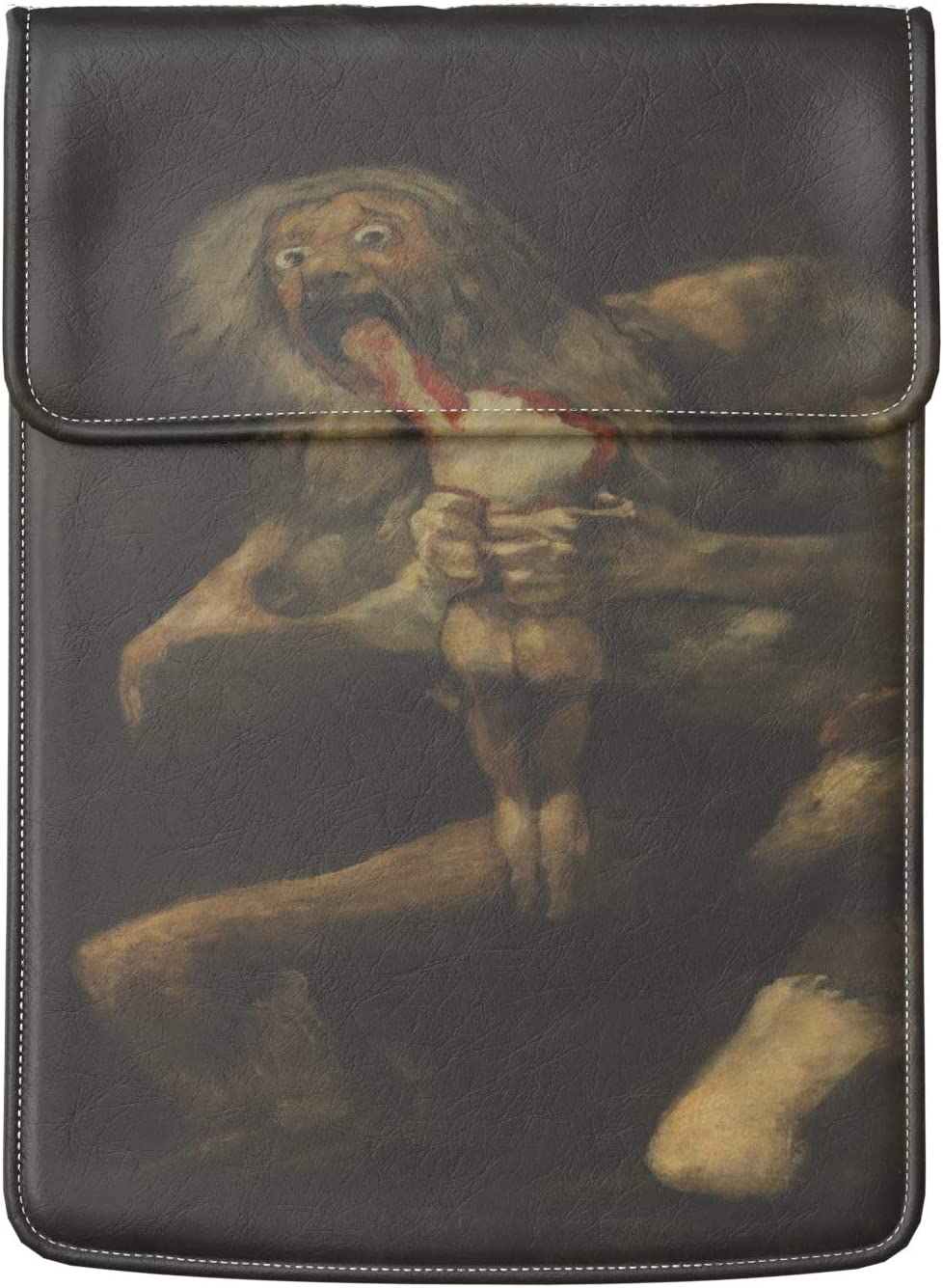 Lex Altern Laptop Sleeve Case for MacBook Air Mac Pro Retina Surface HP Dell ASUS Acer Lenovo 11 12 13 14 15 16 17 inch Art Carrying Black Francisco de Goya Saturn Devouring His Son Computer Painting