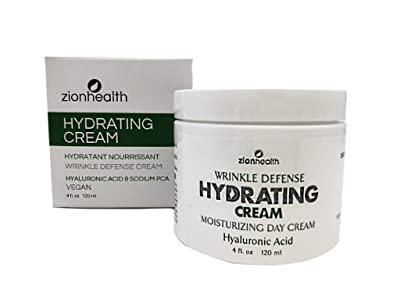 Zion Health Hydrating Wrinkle Defense Cream 4 oz Hyaluronic Acid