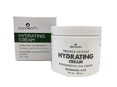 Zion Health Hydrating Wrinkle Defense Cream 4 oz Hyaluronic Acid