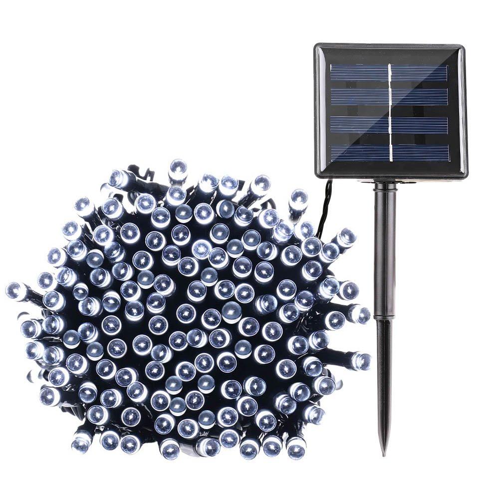 Qedertek Solar String Lights, 72ft 200 LED Fairy Christmas Lights, 8 Modes Ambiance Lighting for Outdoor, Patio, Lawn, Landscape, Garden, Home, Wedding (Cool White)
