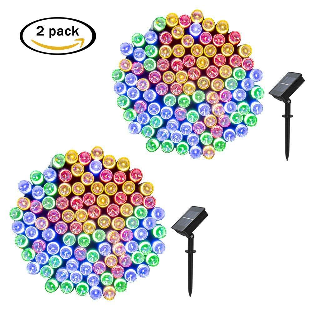 pack luces solares de la secuencia LED m modos Cadena solar de