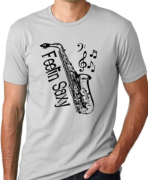 Think Out Loud Apparel Feelin Saxy Funny Saxophone T-Shirt Sax Humor Tee  12d1b6725432