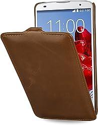 StilGut UltraSlim Case, custodia in vera pelle per LG G Pro 2, cognac