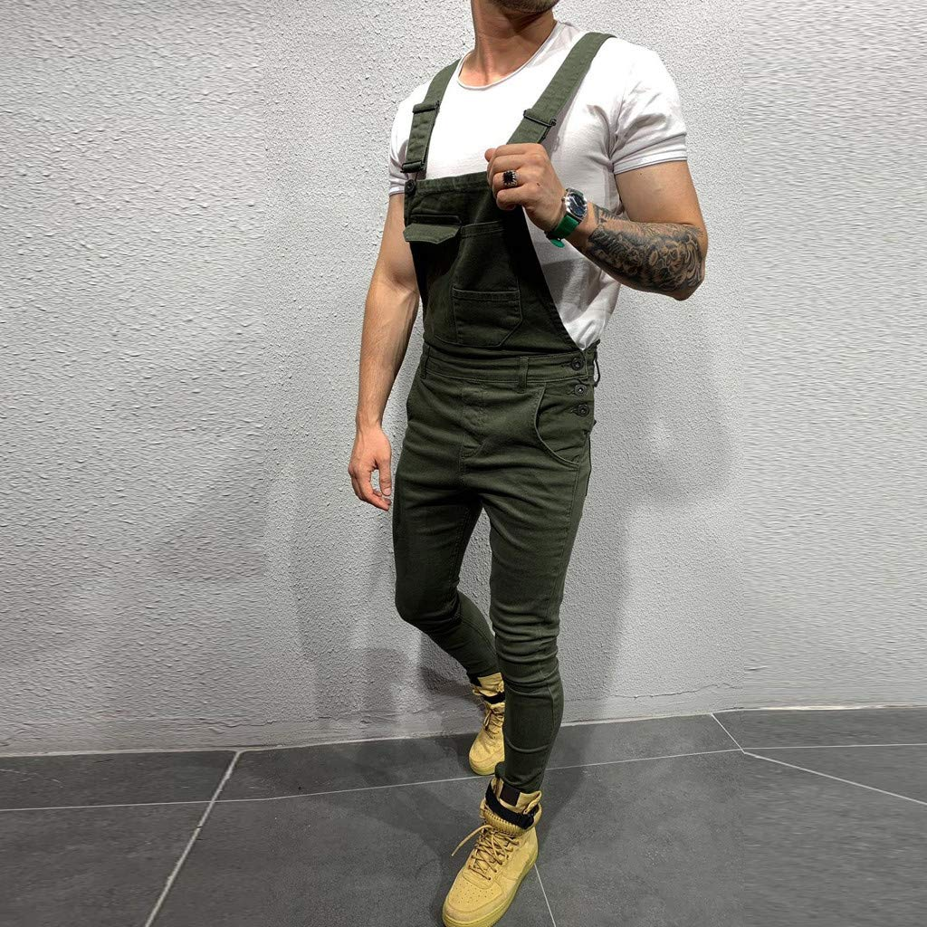 Mens Denim Trousers Bib Overalls Dungarees Stonewash Jeans Jumpsuits Trousers Dungarees Work Workwear Student Dungaree Overalls for Man HOTSELL〔☀ㄥ☀〕Dungarees Men