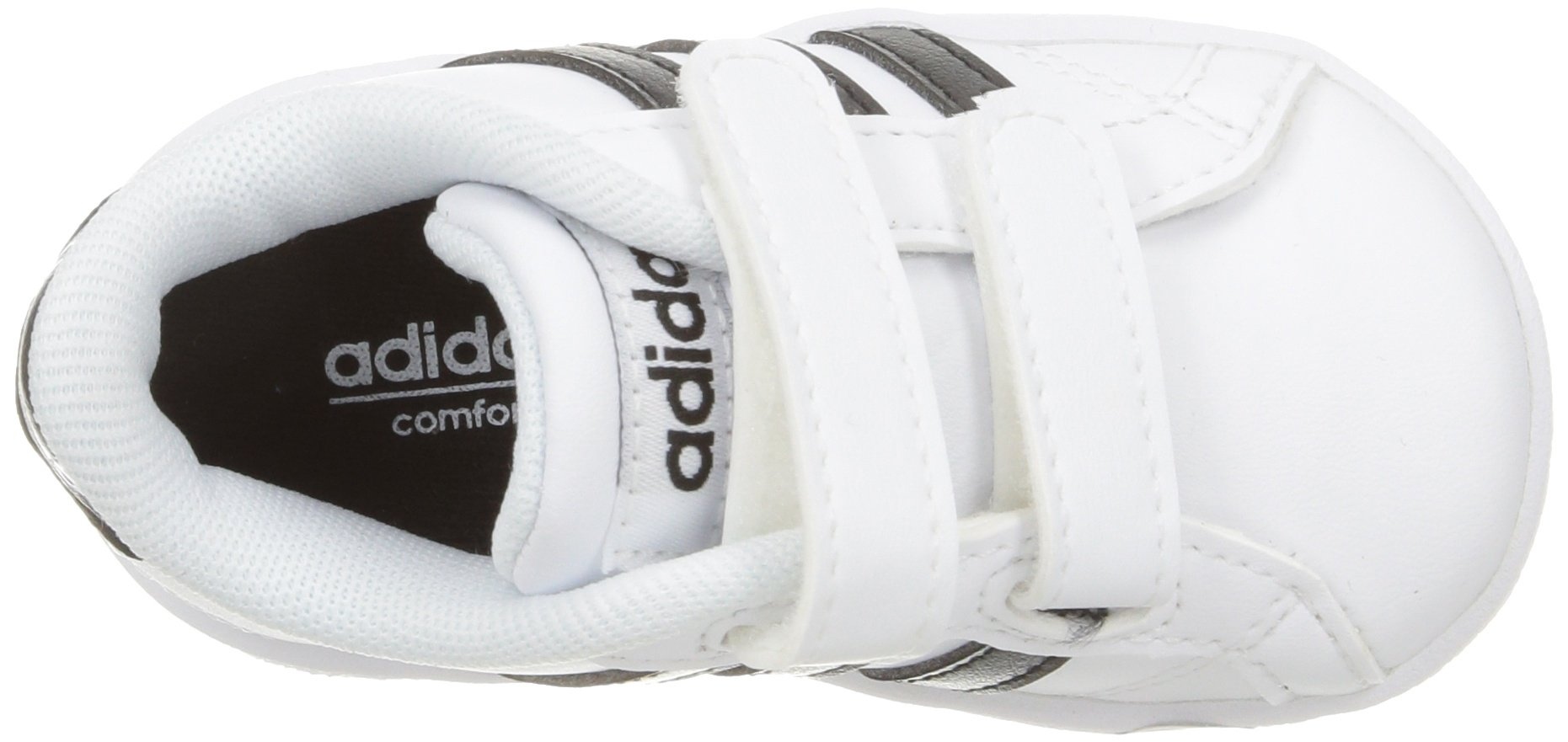 adidas Performance Baby Baseline Sneaker, White/Black/White, 6.5K M US Toddler by adidas (Image #10)