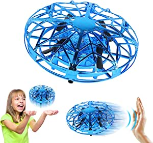 ZeroPlusOne® Hand Operated Drones for Kids or Adults – Air Magic Scoot Hands Free Mini Drone Helicopter, Easy Indoor UFO Flying Ball Drone Toys for Boys or Girls (Blue)