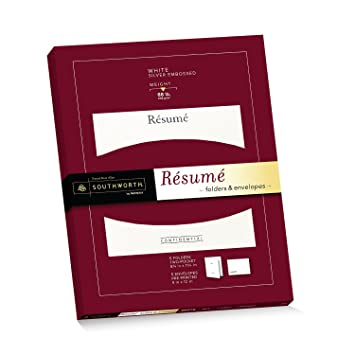amazon com southworth exceptional resume folders envelopes packet