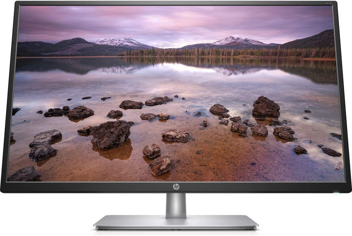 "HP 32"" IPS LED FHD Monitor, FHD 1920 x 1080, 16:9 Aspect Ratio, Tilt Adjustment and Anti-Glare Panel, 178° Horizontal and Vertical Viewing Angles, 1 VGA, 1 HDMI, Black"