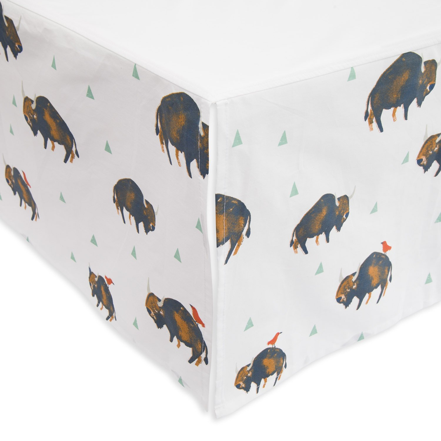 Little Unicorn Percale Crib Skirt - Bison LLC. UN0410