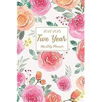 2021-2025 Five Year Monthly Planner: 5 Year Appointment Calendar, 60 Months Planner Pocket Size 6x9, Agenda Schedule…