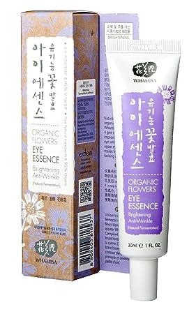Whamisa Organic Flowers Eye Essence 30ml, 1.01 fl. oz., Anti Wrinkle, Lifting, Brightening, Moisturizing – Naturally fermented, EWG Verified