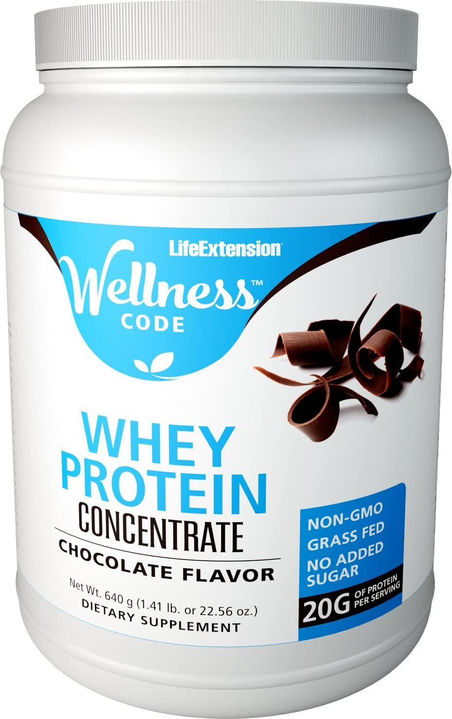 Life Extension Wellness Code Whey Protein Concentrate, Chocolate, 1.41 Pound