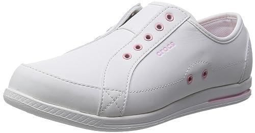 Crocs - Zapatillas para Mujer White/Petal Pink: Amazon.es: Zapatos y complementos