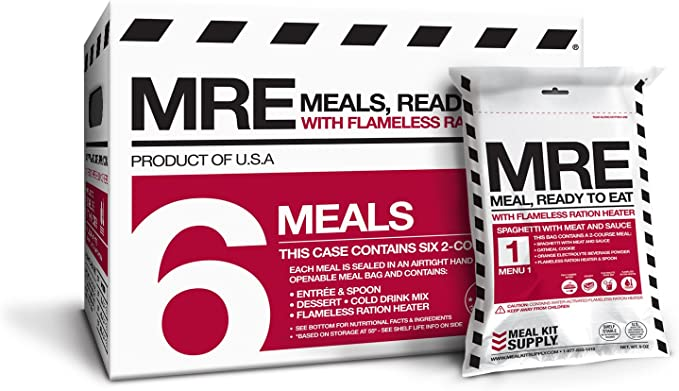 Meal Kit Supply MRE (Meals, Ready to Eat) - Two Course Fresh MREs ...
