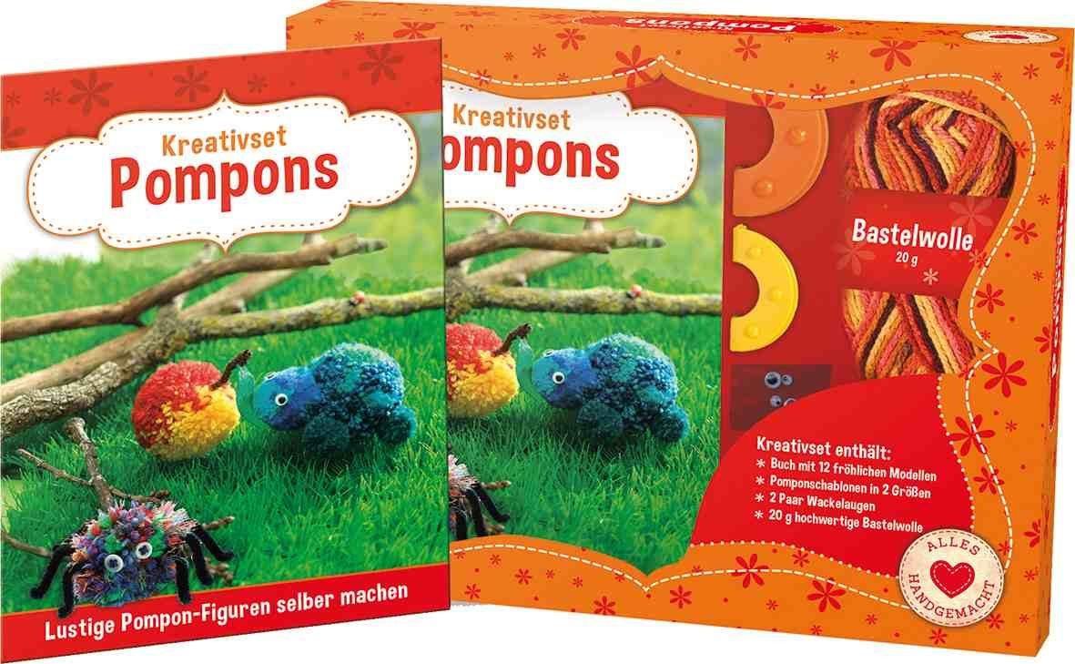 Pompons Selber Machen kreativset pompons lustige pompon figuren selber machen set mit