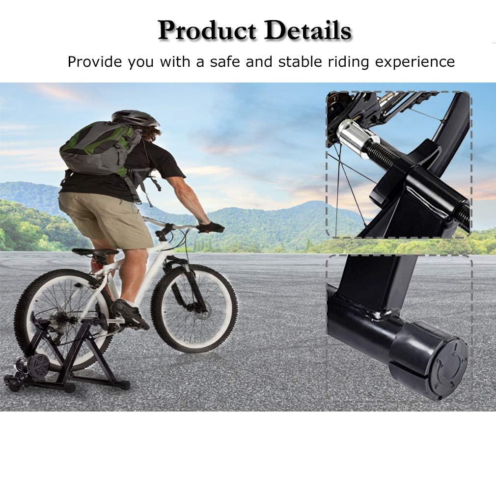 117c790dbb Amazon.com   FDW Bike Trainer Stand Bicycle Trainers Road Bike Trainer for  Indoor Riding Magnetic Bike Trainer with 5 Levels Resistance   Sports    Outdoors
