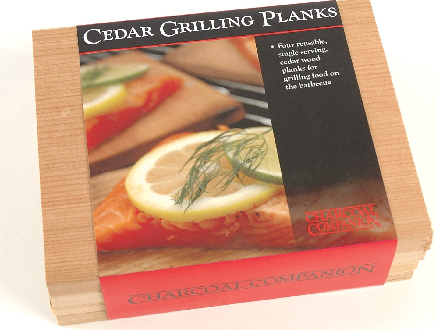 Charcoal Companion CC6022 Cedar Wood Single Serving Grilling Planks, Set of 4