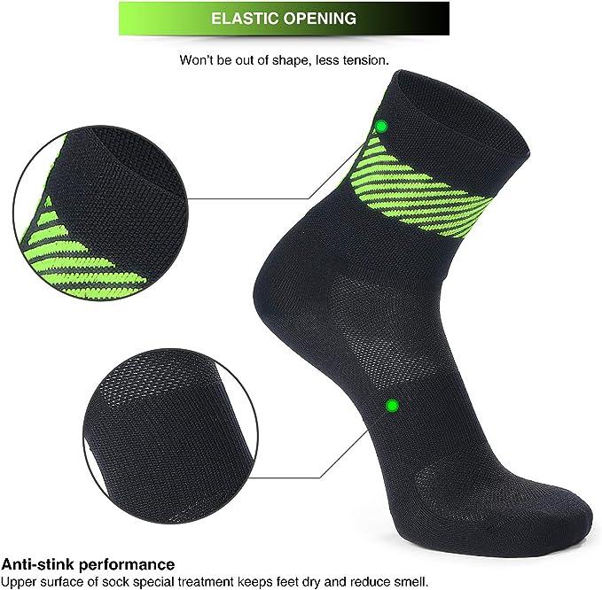 SKYSPER 3 Pares Calcetines de Deporte Deportivos para Hombre Mujer Unisex Bacteriostáticos Casual Zapatilla Antideslizantes Transpirables Medias para Ciclismo Fitness Tenis Correr Uso Diario Yoga: Amazon.es: Deportes y aire libre