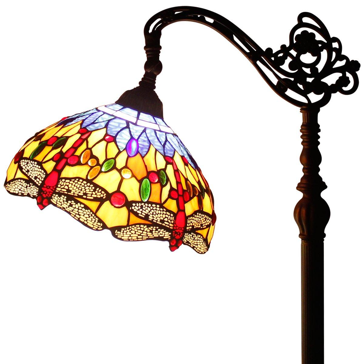 Tiffany Style Reading Floor Lamp Table Desk Lighting Multicolor Shade W12H64 E26