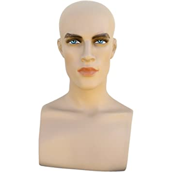 Amazon.com: Male Mannequin Head Form with Bust: Arts, Crafts & Sewing