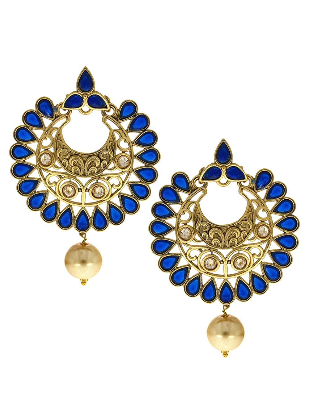 Anuradha Art Blue Colour Very Classy Trendy Wonderful Designer Earrings For Women//Girls