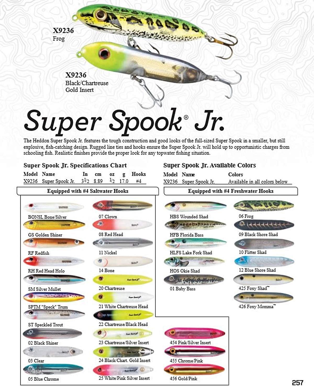 Heddon Junior /à leau sal/ée Super Spook Leurre de p/êche