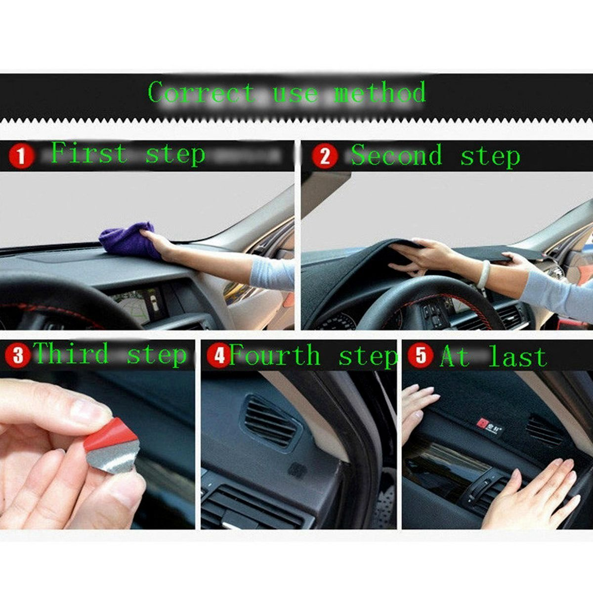 Hireno auto Dashboard Cover Dash Mat Tappetino Tappetini antiscivolo moquette Tappeto per Corolla 2007-13