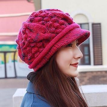 ERLINGSAN-MZ Sombrero Mujer Gorro De Tejer Gorra De Lana Sombrero ...