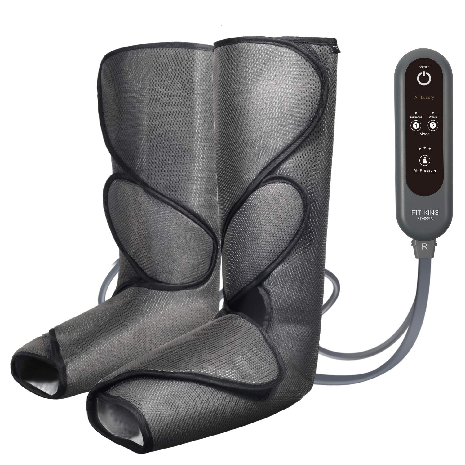 FIT KING Leg Air Massager for Circulation and Relaxation Foot and Calf Massage with Handheld Controller 3 Intensities 2 Modes(with 2 Extensions) by FIT KING