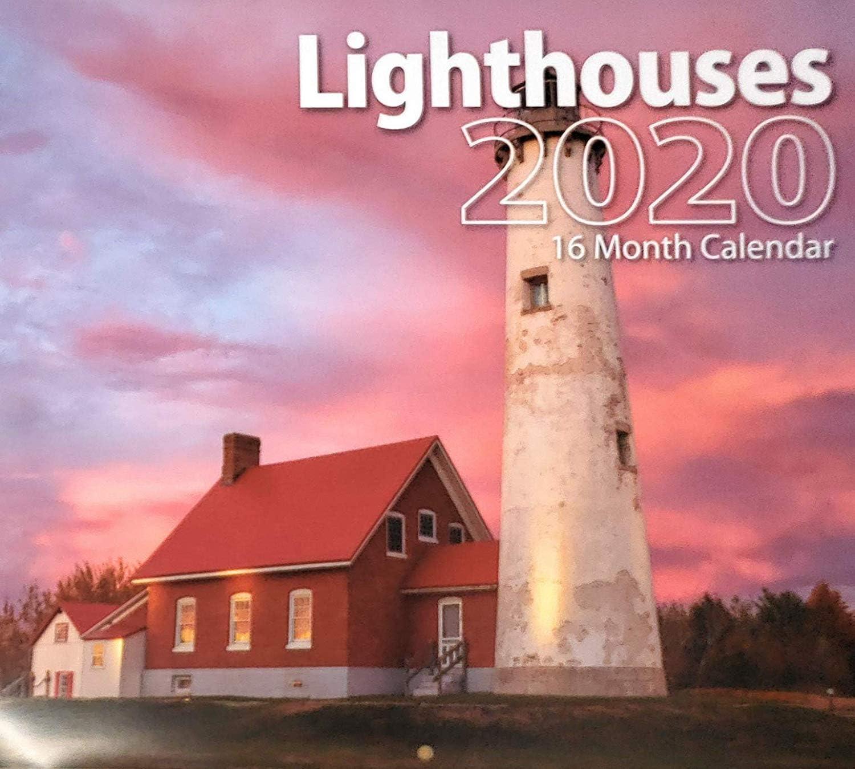 2020 灯台 フルサイズ 16ヶ月 壁掛けカレンダー