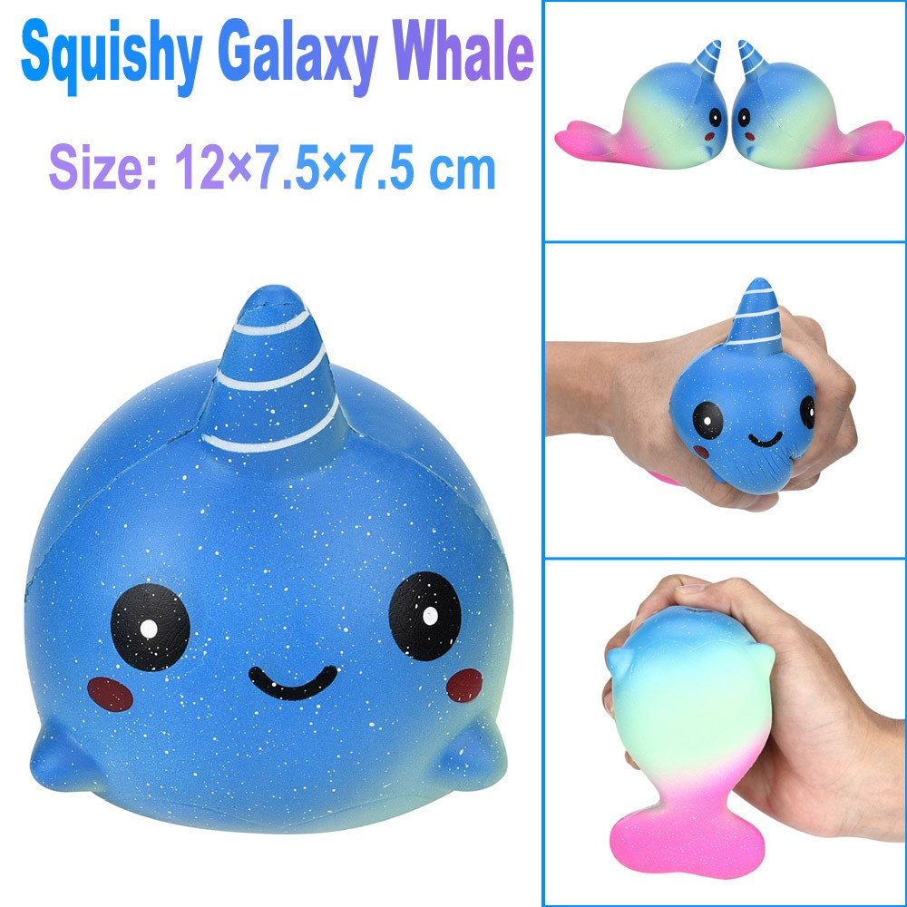 Gaddrt 11cm Galaxy Deer Cream Scented Squishy Slow Rising Squeeze Strap Kids Toy Gift Ramdon (A)