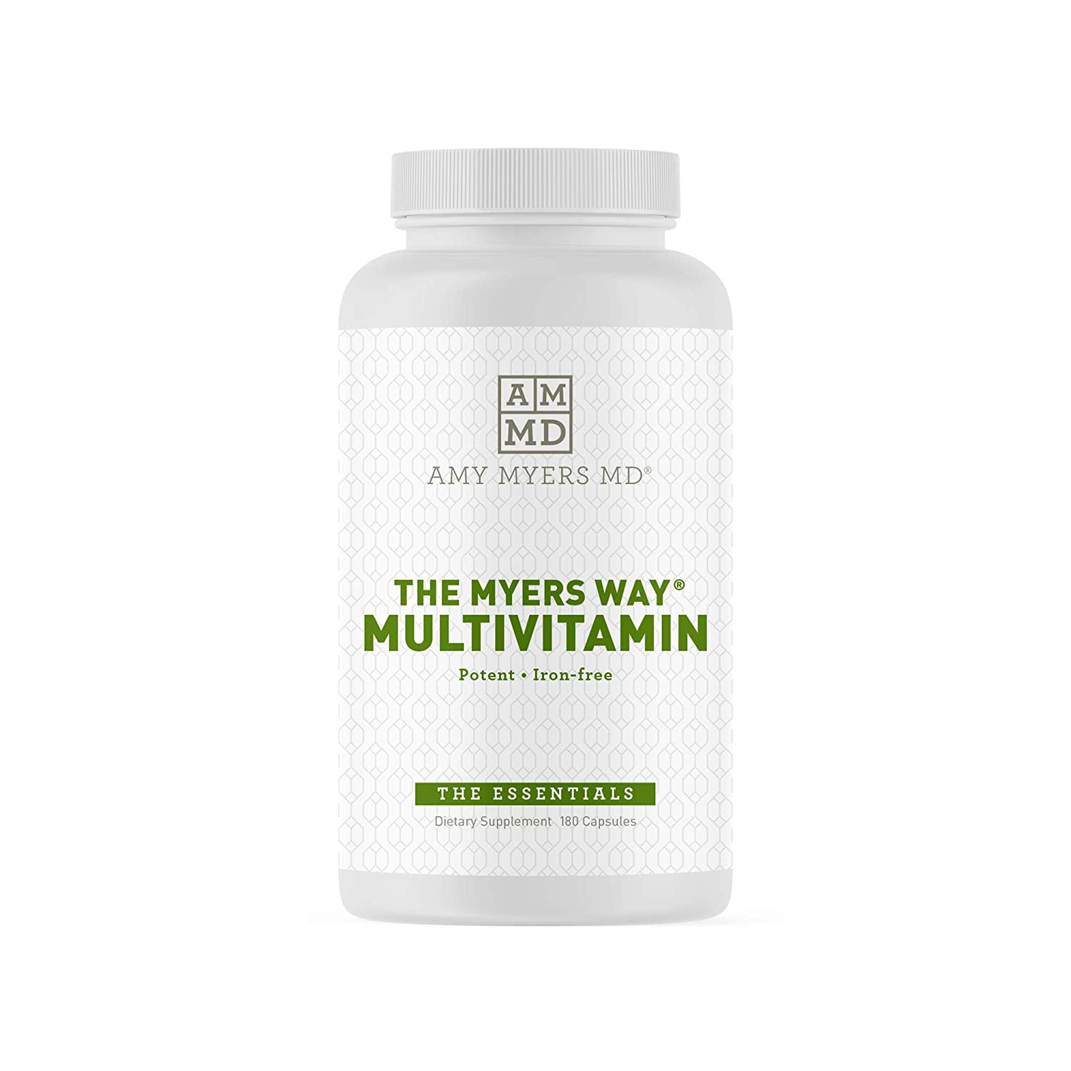 The Myers Way Multivitamin for Women and Men for Thyroid Support, Stress Relief, Immune Support – Activated B Vitamins, Zinc, Selenium, Iooine – Rich in Nutrients and Minerals, Gluten Free 180 Caps