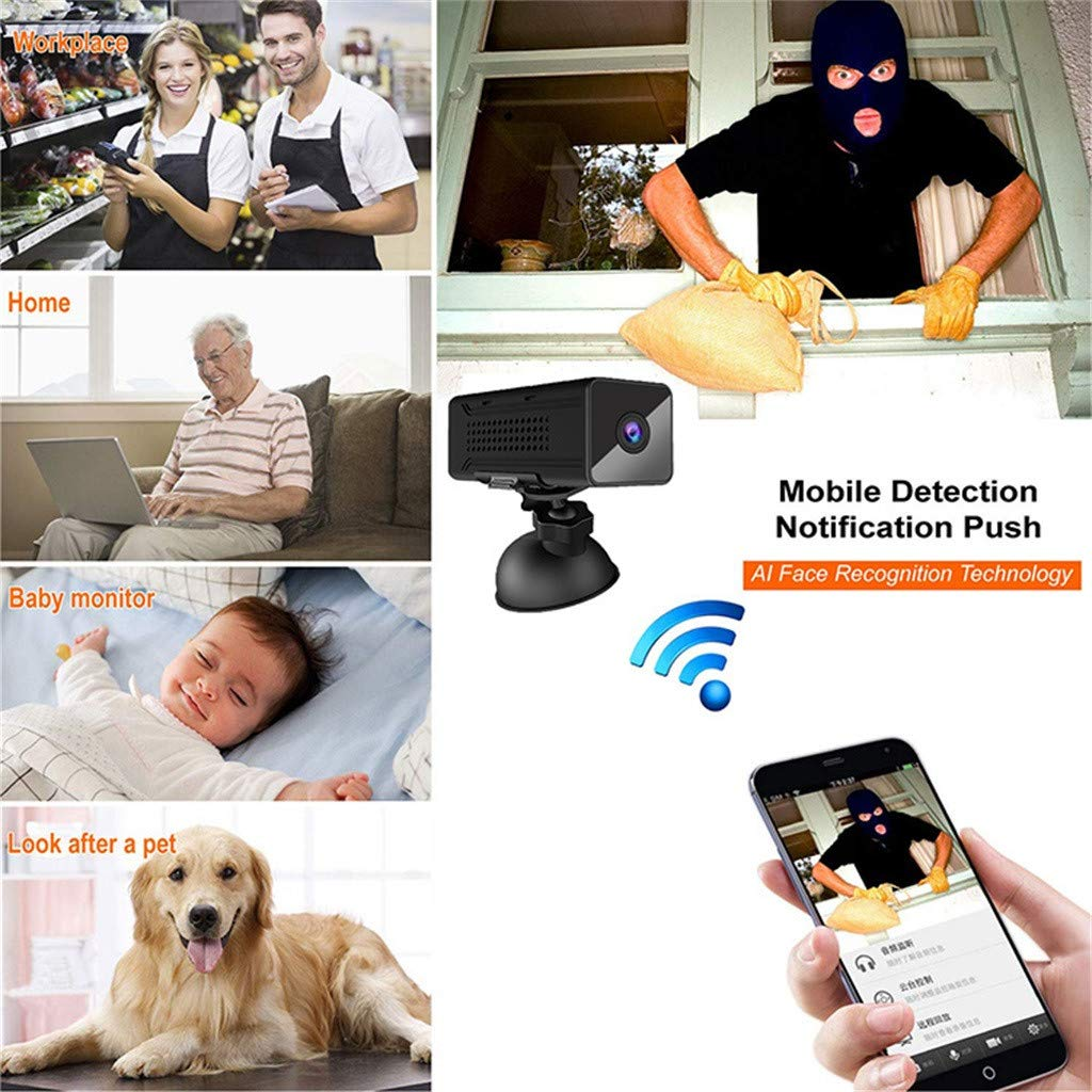 Wabaodan Ultra Long Night Vision Mini Webcam 1920PX1080P HD Wifii Remote HD Wireless Camera by Wabaodan (Image #4)