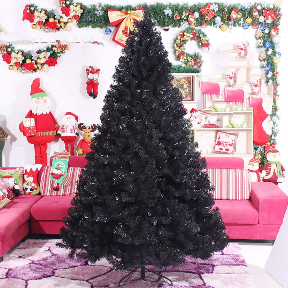 Sapin de no/ël Socle en m/étal No/ël Parti D/écoration /à la Maison Vacances 120CM DULPLAY PVC Noir Arbre de no/ël Artificiel