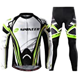 Sponeed Men's Long Sleeve Cycling Suit Mountain Biking Clothes Compression Pants